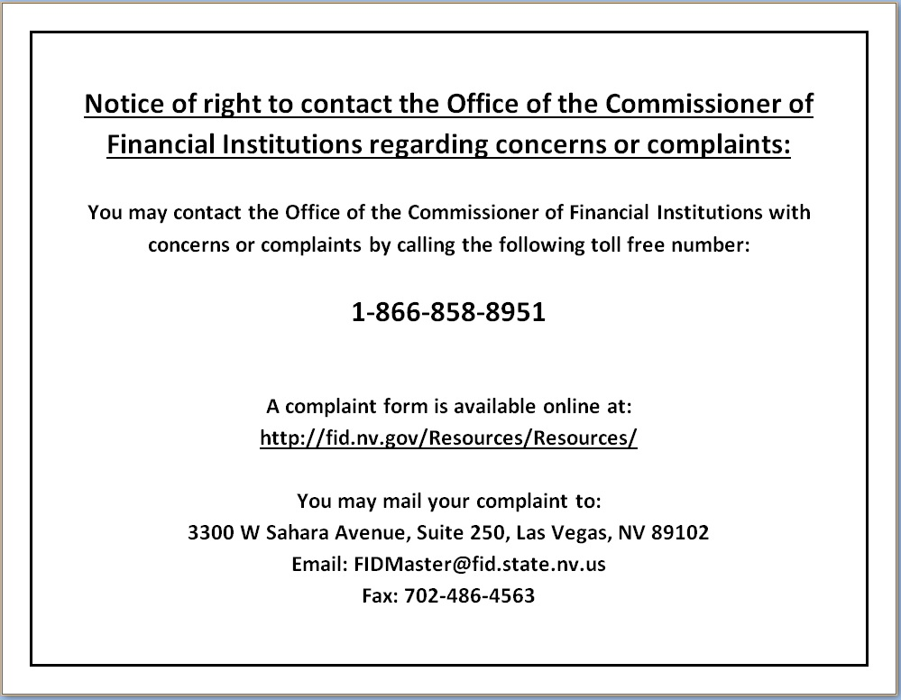 Nevada Right to Contact